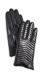 Mackage Cano Leather Gloves Black