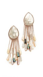 Theia Jewelry Selene Earrings Antique Gold Mother Of Pearl