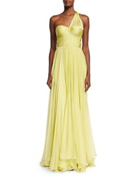 Maria Lucia Hohan Andora Ruched One Shoulder Sweetheart Gown Aurora