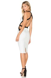 Tiger Mist Trapeze Midi Dress White