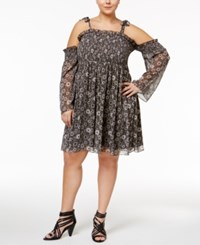 Beauty And The Beast Trendy Plus Size Off Shoulder Peasant Dress Multi
