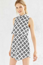 Cooperative Layered Dress Black And White