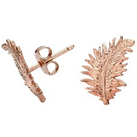 Dower And Hall Rose Feather Stud Earrings N A N A