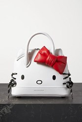 Balenciaga Hello Kitty Printed Leather Tote White