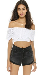 Nightcap Clothing Spanish Crop Top White