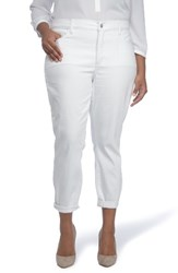 Nydj Plus Size Women's Alex Roll Cuff Ankle Pants White