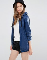 Pull And Bear Pullandbear Nylon Shiny Parka Jacket Blue