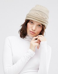 Johnstons Chunky Cable Hat Dk Med Dyed Cream