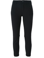 Dondup Cuff Zip Trousers Black