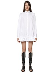 Diesel Black Gold Cotton Poplin Shirt Dress W Flounce Hem