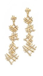 Joanna Laura Constantine Hashtag Drop Earrings Gold Clear