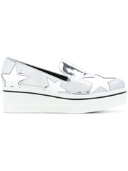 Stella Mccartney Star Binx Slip On Loafers Metallic