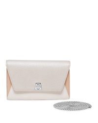 Akris Anouk Mini Chain Clutch Bag Champagne