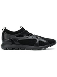 Z Zegna Lace Up Sneakers Black