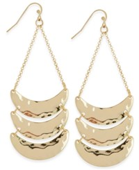 Inc International Concepts Gold Tone Hammered Metal Chandelier Earrings Only At Macy's