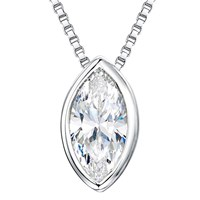 Jools By Jenny Brown Sterling Silver Cubic Zirconia Pendant Silver