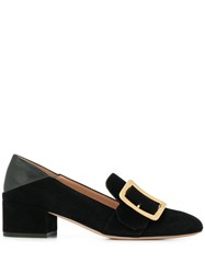 Bally Side Buckle Loafers Black
