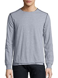 Madison Supply Raw Edge Double Layer Tee Heather Grey