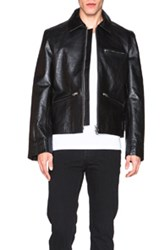 Acne Studios August Light Leather Jacket In Black