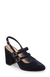 Bella Vita Nessa Slingback Mary Jane Pump Navy Velvet