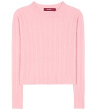 Sies Marjan Cable Knit Cashmere Sweater Pink