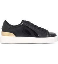 Nine West Palyla Patent Leather Trainers Black