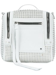Mcq By Alexander Mcqueen Loveless 69 Studded Convertible Box Bag White