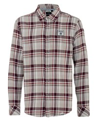 Jeep Flannel Checked Sportshirt Red