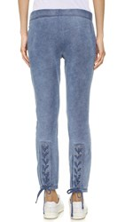 Pam And Gela Lace Up Sweatpants Indigo Wash