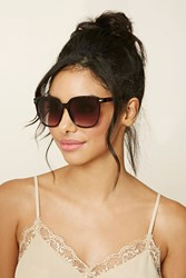 Forever 21 Gradient Square Sunglasses Brown Brown