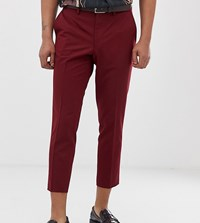 Heart And Dagger Skinny Fit Trouser In Red