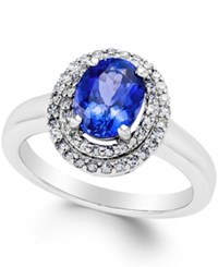 Macy's Tanzanite 1 1 2 Ct. T.W. And Diamond 1 3 Ct. T.W. Ring In 14K White Gold Purple