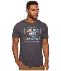 Original Penguin Don't Hate The Player Tee Dark Charcoal Heather T Shirt Black
