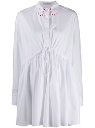 Vivetta Embroidered Hands Flared Blouse White