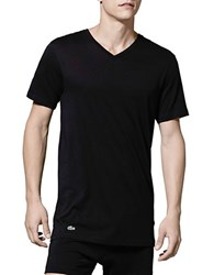 Lacoste Essentials Cotton V Neck Tee Pack Of 3 Black Grey White