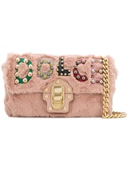 Dolce And Gabbana Lucia Shoulder Bag Pink And Purple