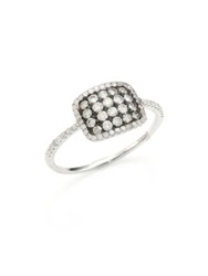 Meira T Diamond And 14K White Gold Cushion Ring