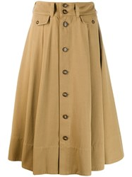Polo Ralph Lauren Button Down Skirt Neutrals