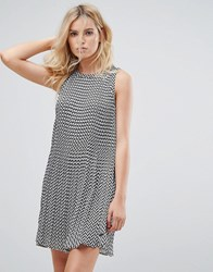 Pepe Jeans Lorin Zigzag Print A Line Dress Multi Grey