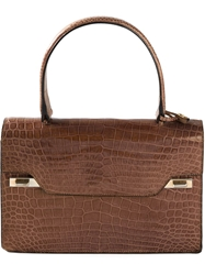 Delvaux Vintage Chic Retro Handbag Brown