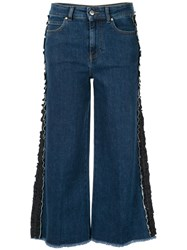 Red Valentino Ruffle Detail Jeans Blue