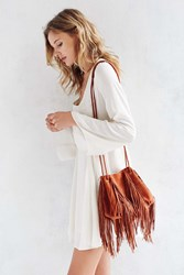 Ecote Fringe Bucket Bag Coral
