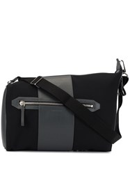 Cerruti 1881 Contrast Panel Shoulder Bag Black
