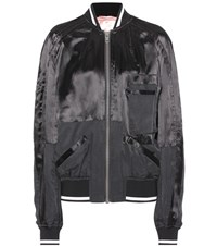 Haider Ackermann Satin Bomber Jacket Black
