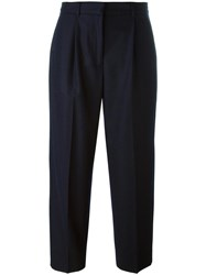 Ymc Cropped Trousers Blue