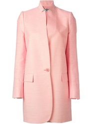 Stella Mccartney Classic Blazer Coat Pink And Purple