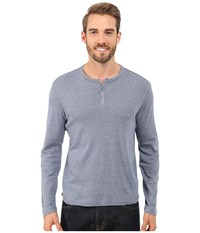 Kenneth Cole Sportswear Long Sleeve Henley Midnight River Men's T Shirt Black