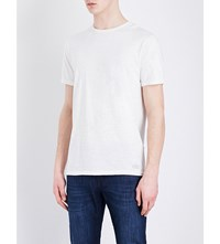 7 For All Mankind Slub Cotton Jersey T Shirt White
