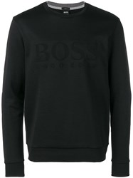 Hugo Boss Embossed Logo Sweatshirt Black