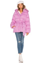 Lovers Friends Lindsey Belted Puffer Jacket Pink